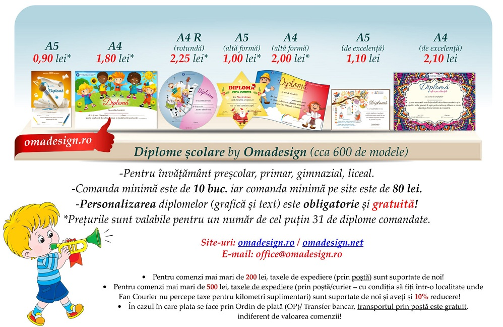 Diplome școlare personalizate - ABC Didactic